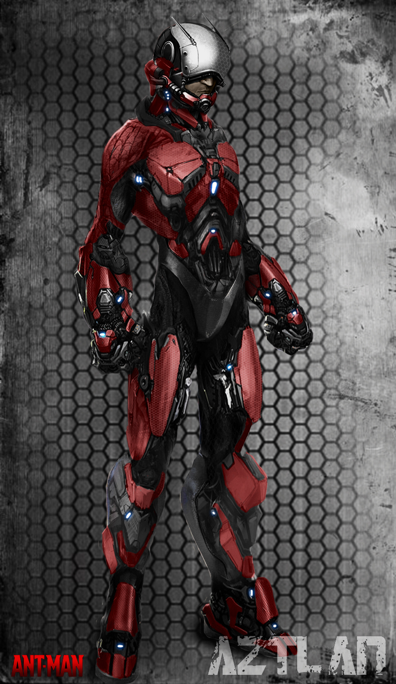 Ant Man Art concept   AZ by AZTLANN 781x1348