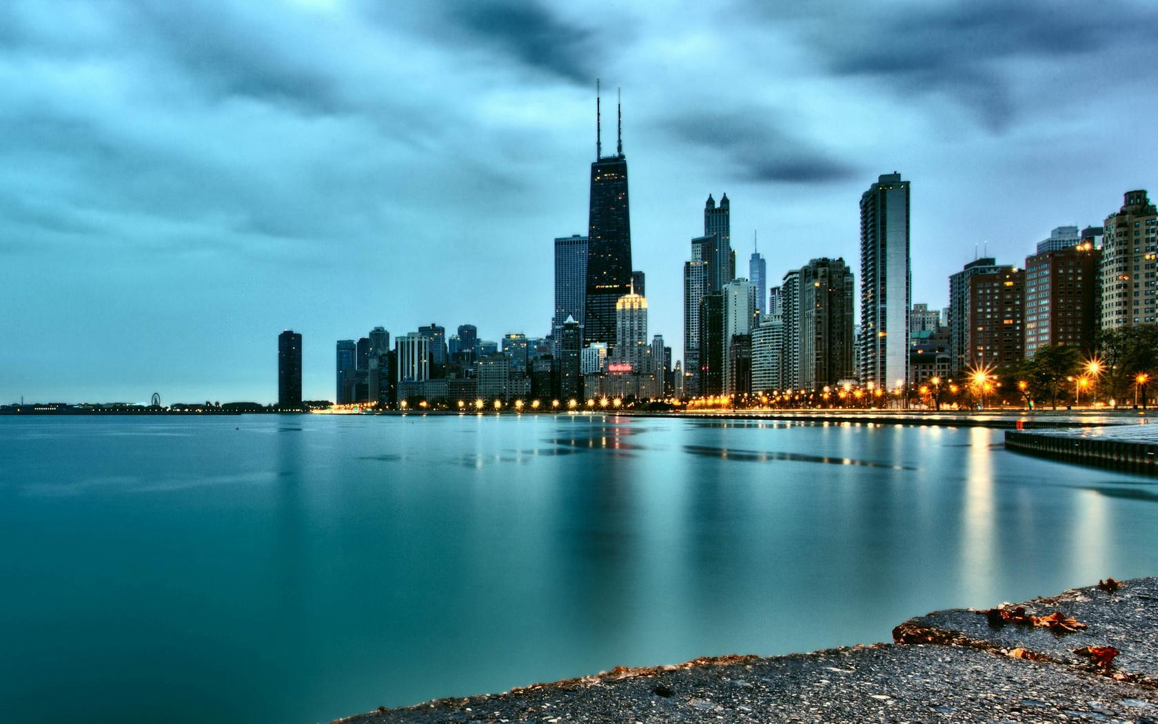 Chicago skyline winter wallpaper desktop wallpapersafari - Chicago skyline wallpaper 1920x1080 ...