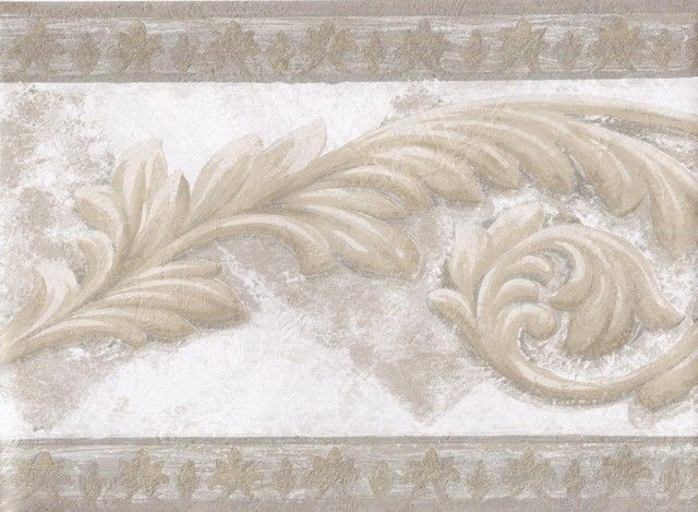 Interior Place   Gold Silver White Aged Stone Molding Wallpaper Border 640x469