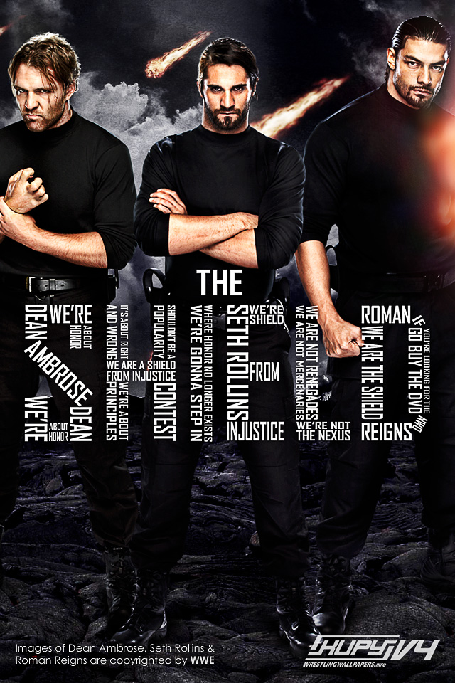 Wrestle Reality NEW The Shield wallpaper 640x960