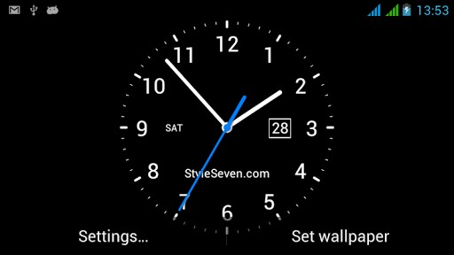 Analog Clock Live Wallpaper 7 App for Android 512x288