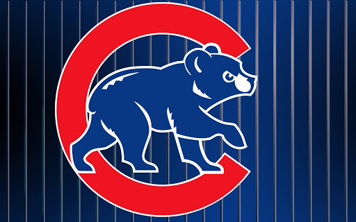 chicago cubs logo sports poster print   24x36 on sale 512x320