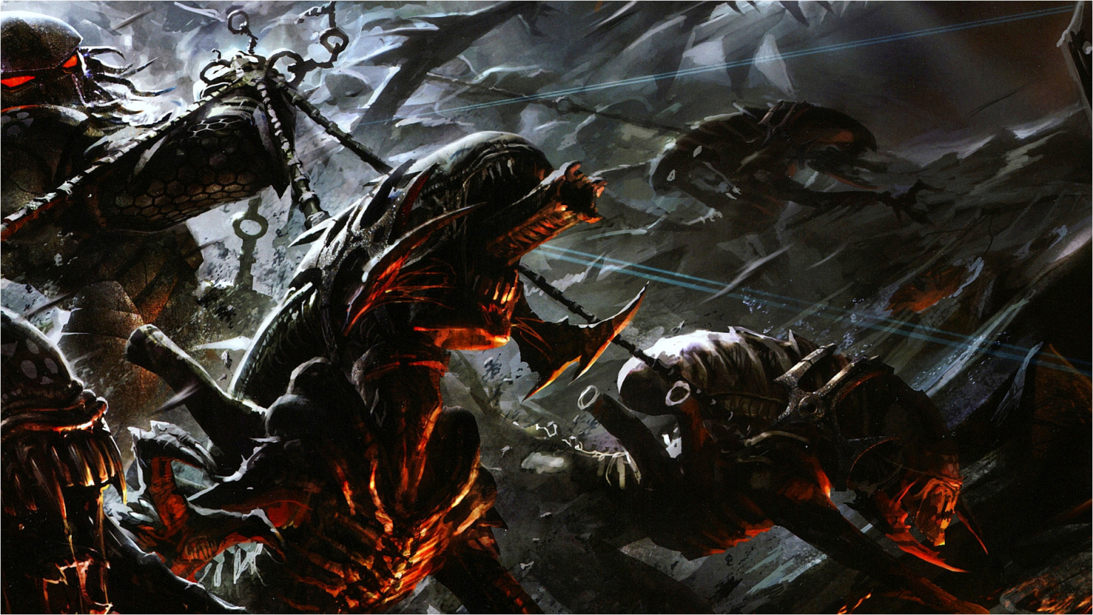 download Video Game Aliens Vs Predator Alien Battle Game 1536x864