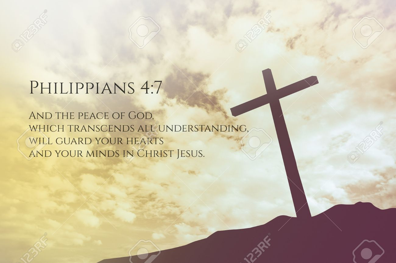 Philippians 47 Vintage Bible Verse Background On One Cross On 1300x866