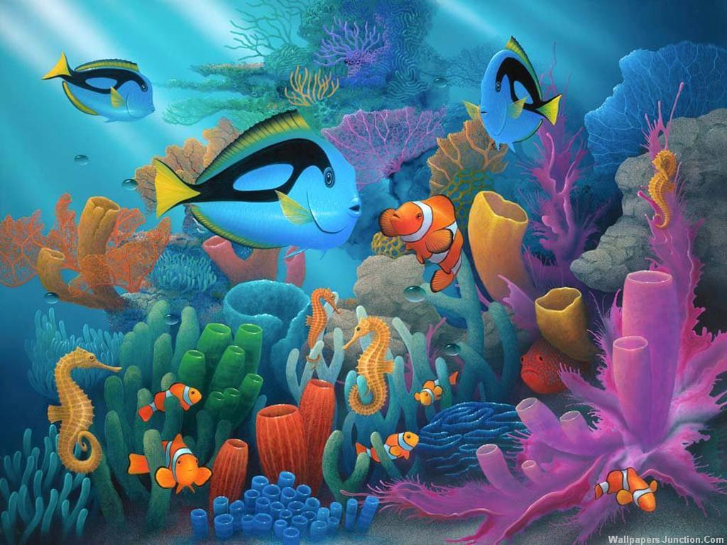 Fish in aquarium desktop wallpaper -  Net 3d Aquarium Wallpaper 3d Aquarium