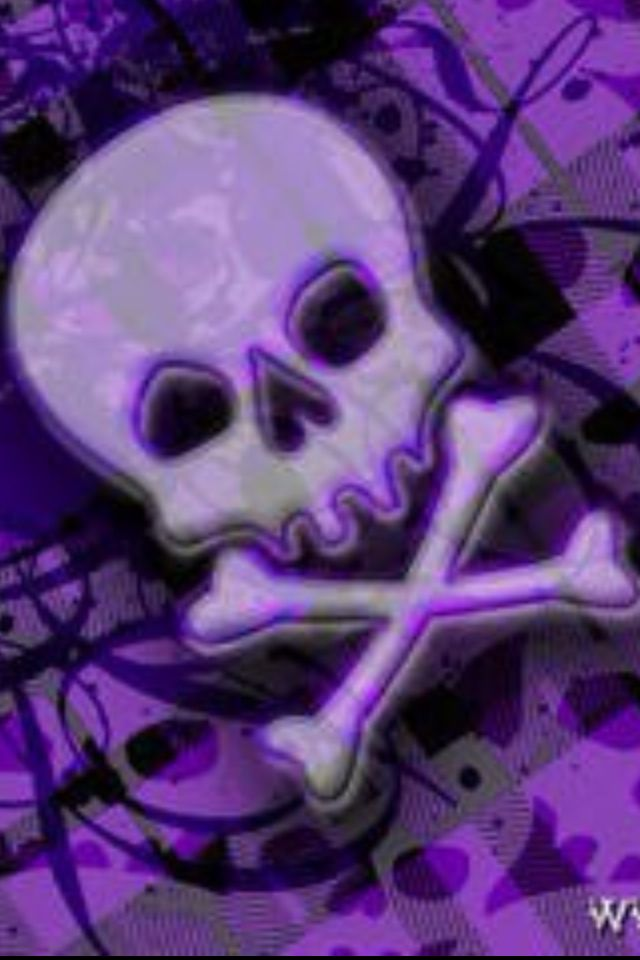 purple skull wallpaper