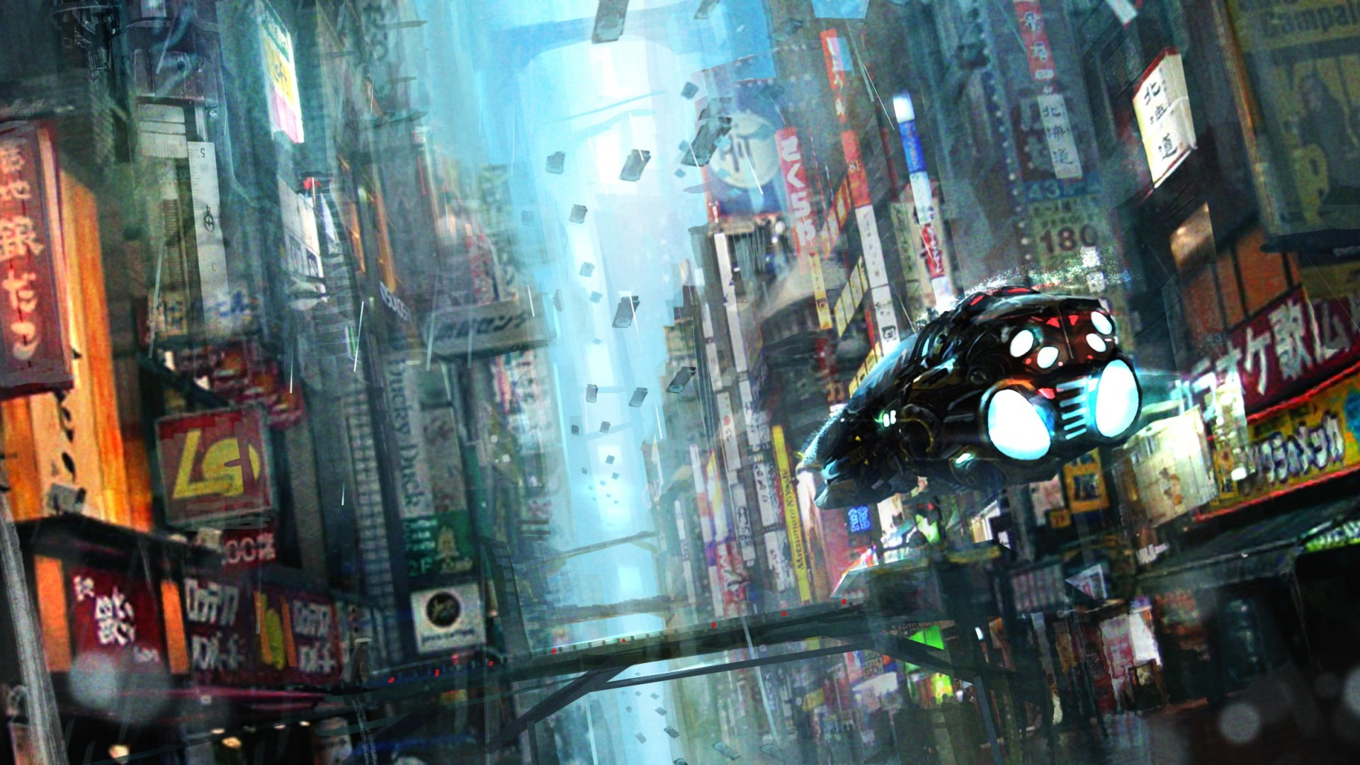 BLADE RUNNER drama sci Fi thriller action city spaceship gs wallpaper 1920x1080