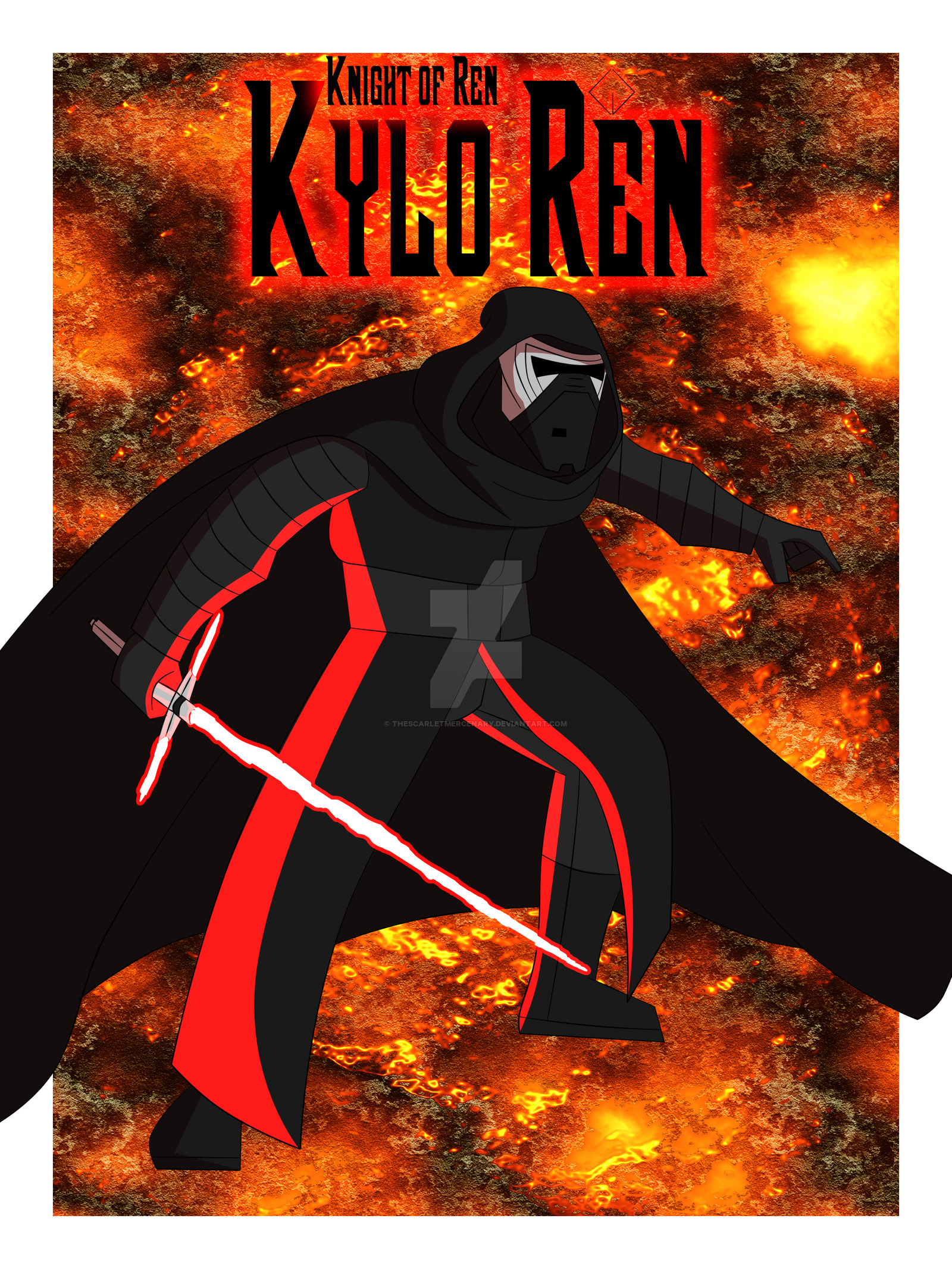 Kylo Ren  The Knight of the First Order by TheScarletMercenary on 1600x2133
