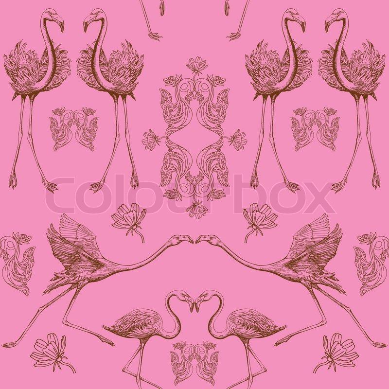 Free Download Birds Hintergrund Mode Nahtlose Muster Vintage
