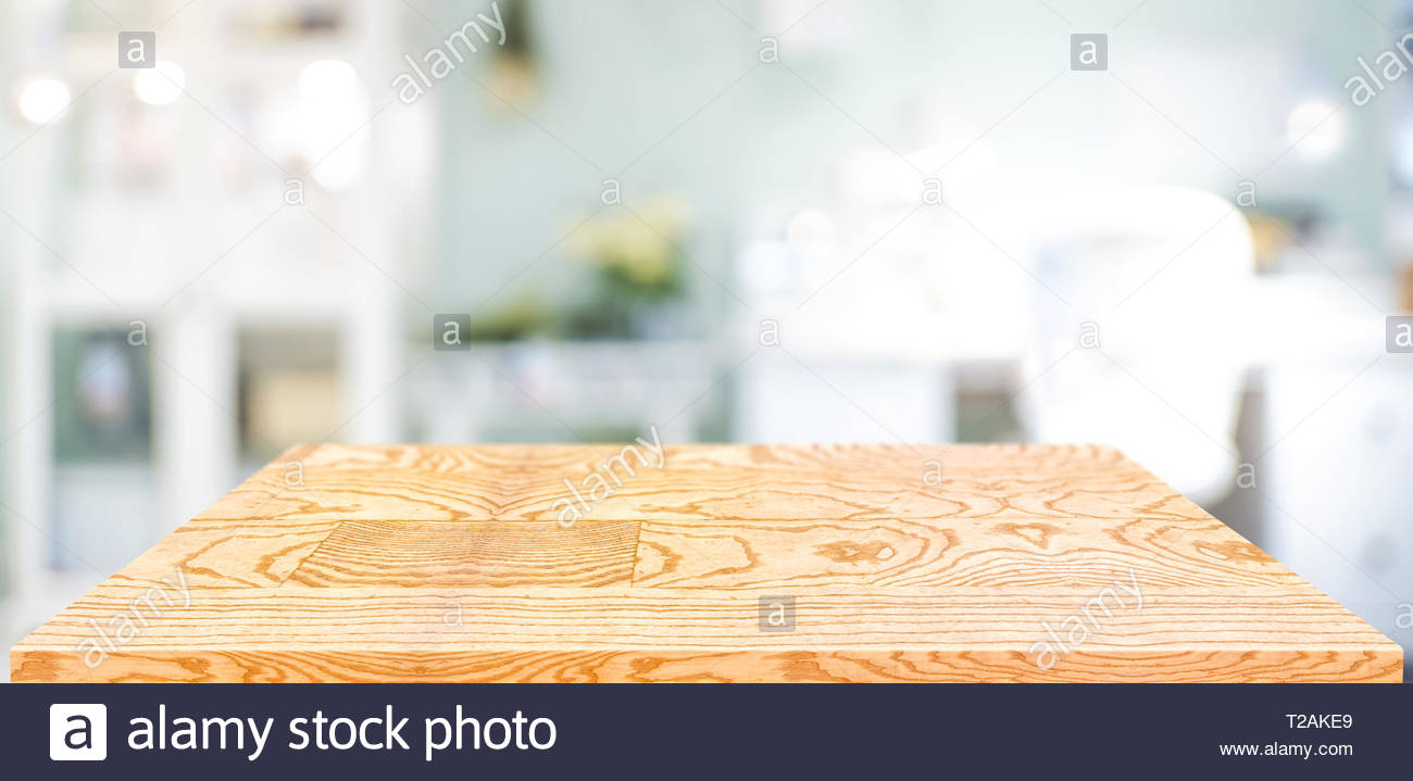 Perspective wood table counter in home officeEmpty wooden 1300x719
