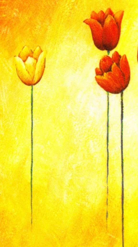Hand Drawn Tulips Wallpaper   iPhone Wallpapers 576x1024