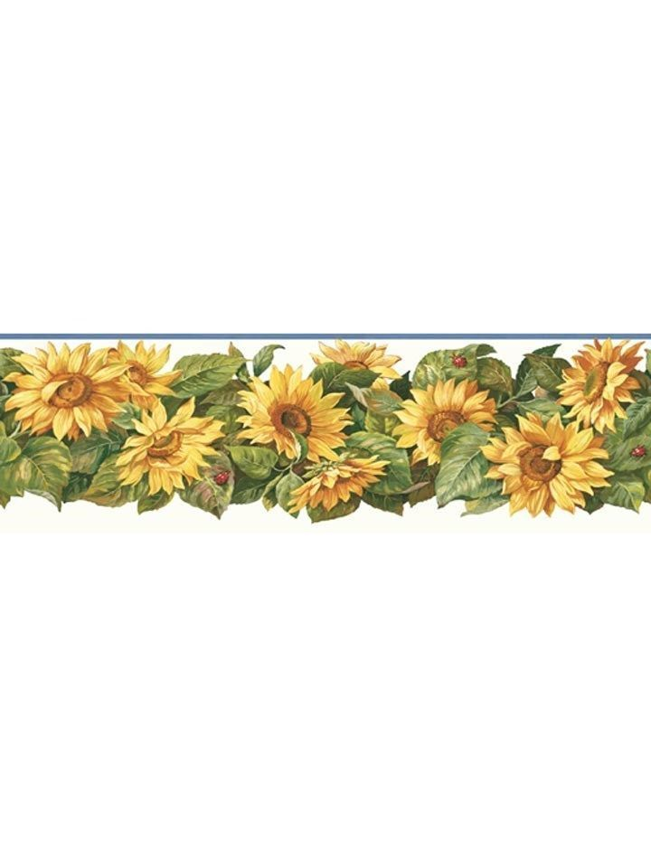 Sunflower with Lady Bugs Wallpaper Border CP033193B eBay 720x960