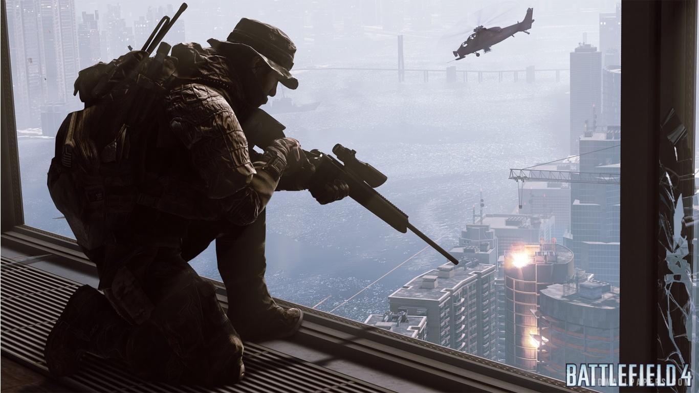 Battlefield 4 Sniper HD Wallpaper   iHD Wallpapers 1366x768