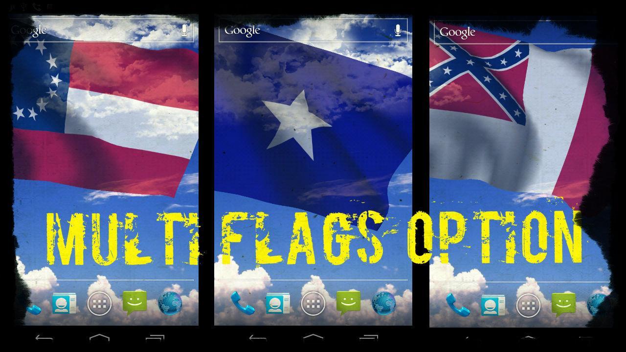 Rebel Flag Live Wallpaper   screenshot 1280x720