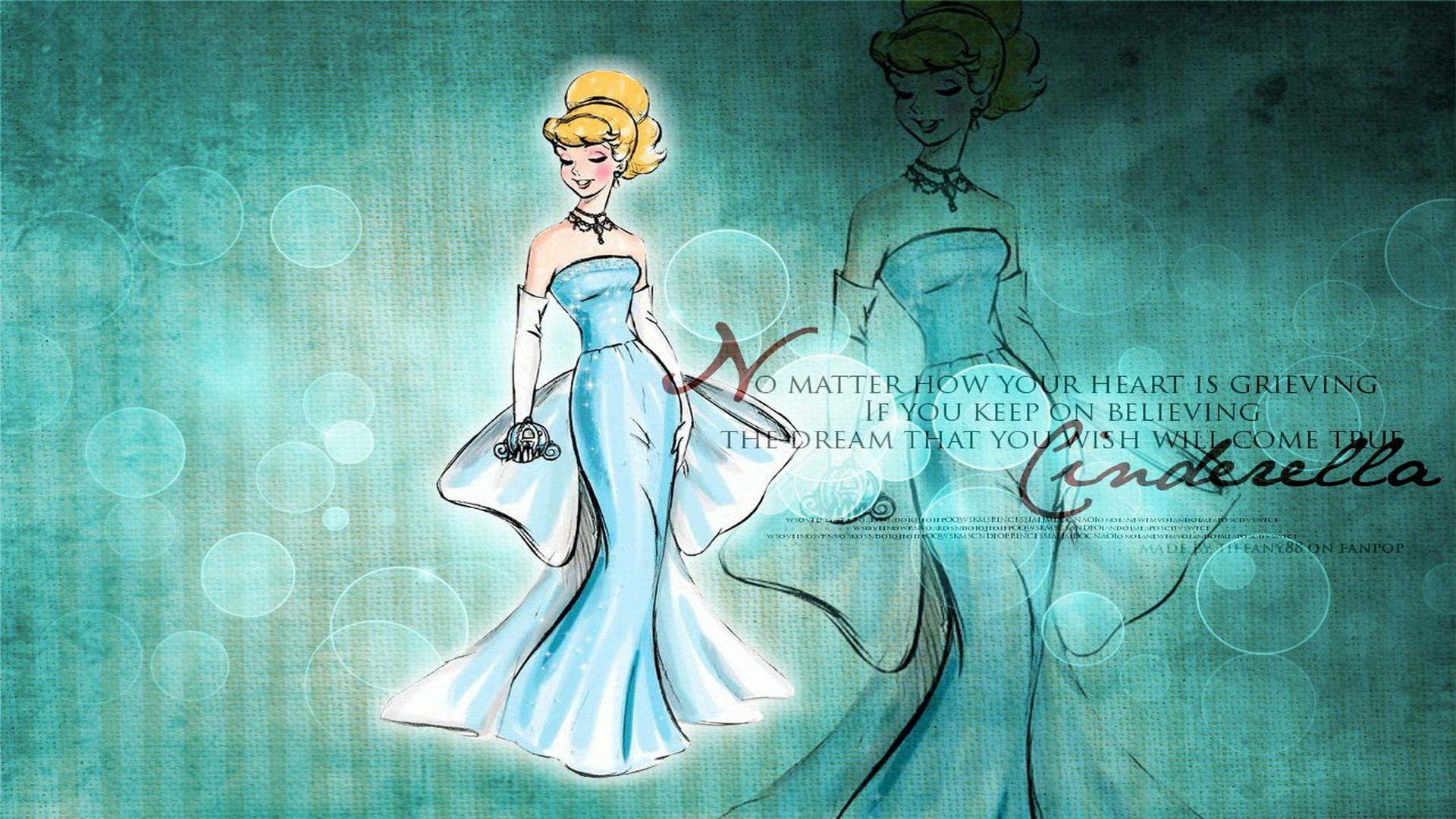 Walt Disney Princess Cinderella HD Wallpaper of Cartoon 1920x1080
