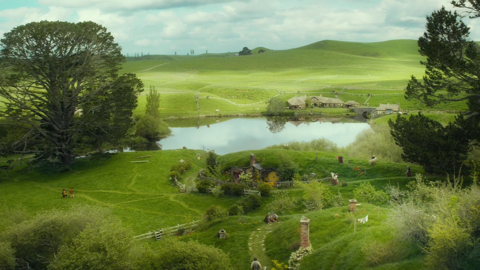 The Hobbit An Unexpected Journey the shire 1920x1080