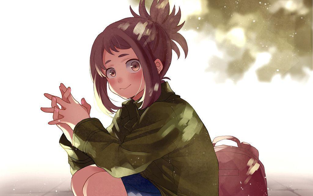 Free Download Cute Anime Girl Ochako Uraraka Boku No Hero Academia