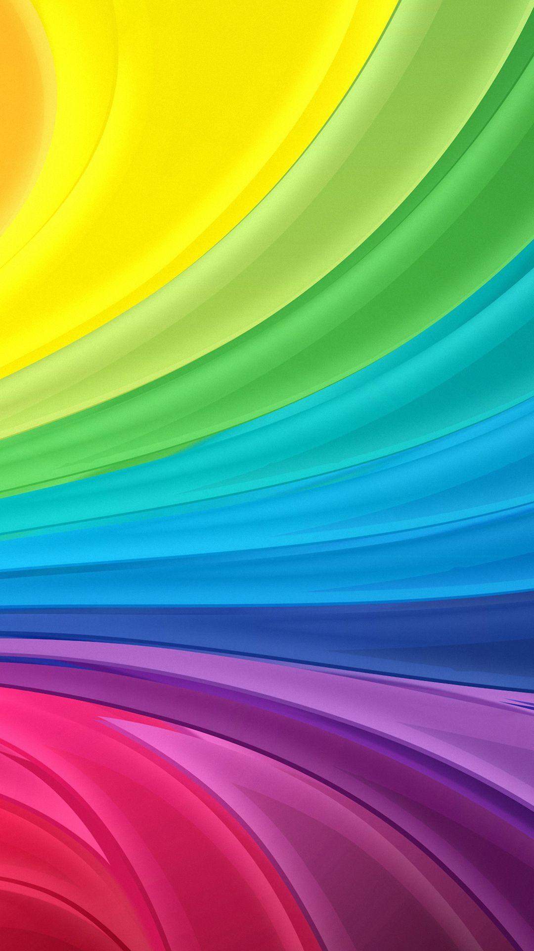 HD 1080x1920 rainbow swirl samsung galaxy a7 wallpapers Rainbow 1080x1920