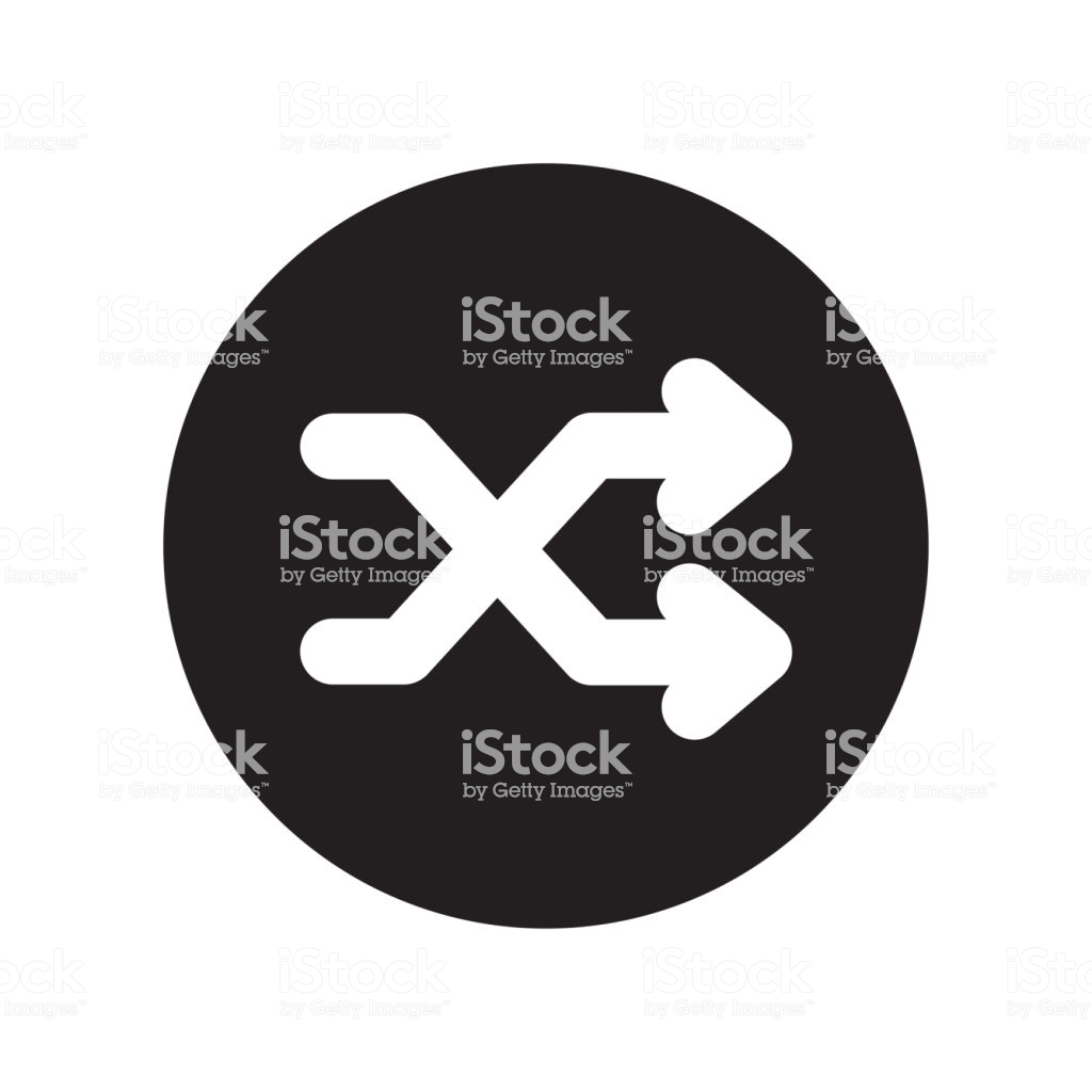 Shuffle Icon Vector Sign And Symbol Isolated On White Background 1024x1024