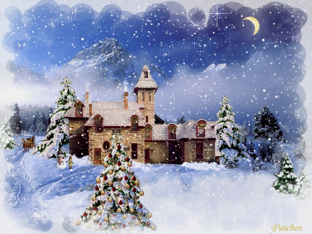 Country Christmas Background.46 Country Christmas Wallpapers On Wallpapersafari