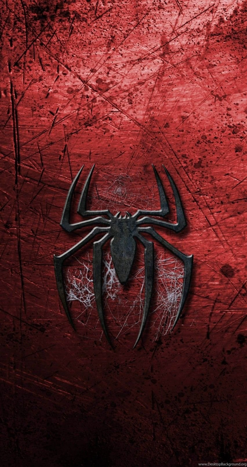 Download Grungy Spider Man Logo HD Wallpapers For iPhone 6 6s 852x1608