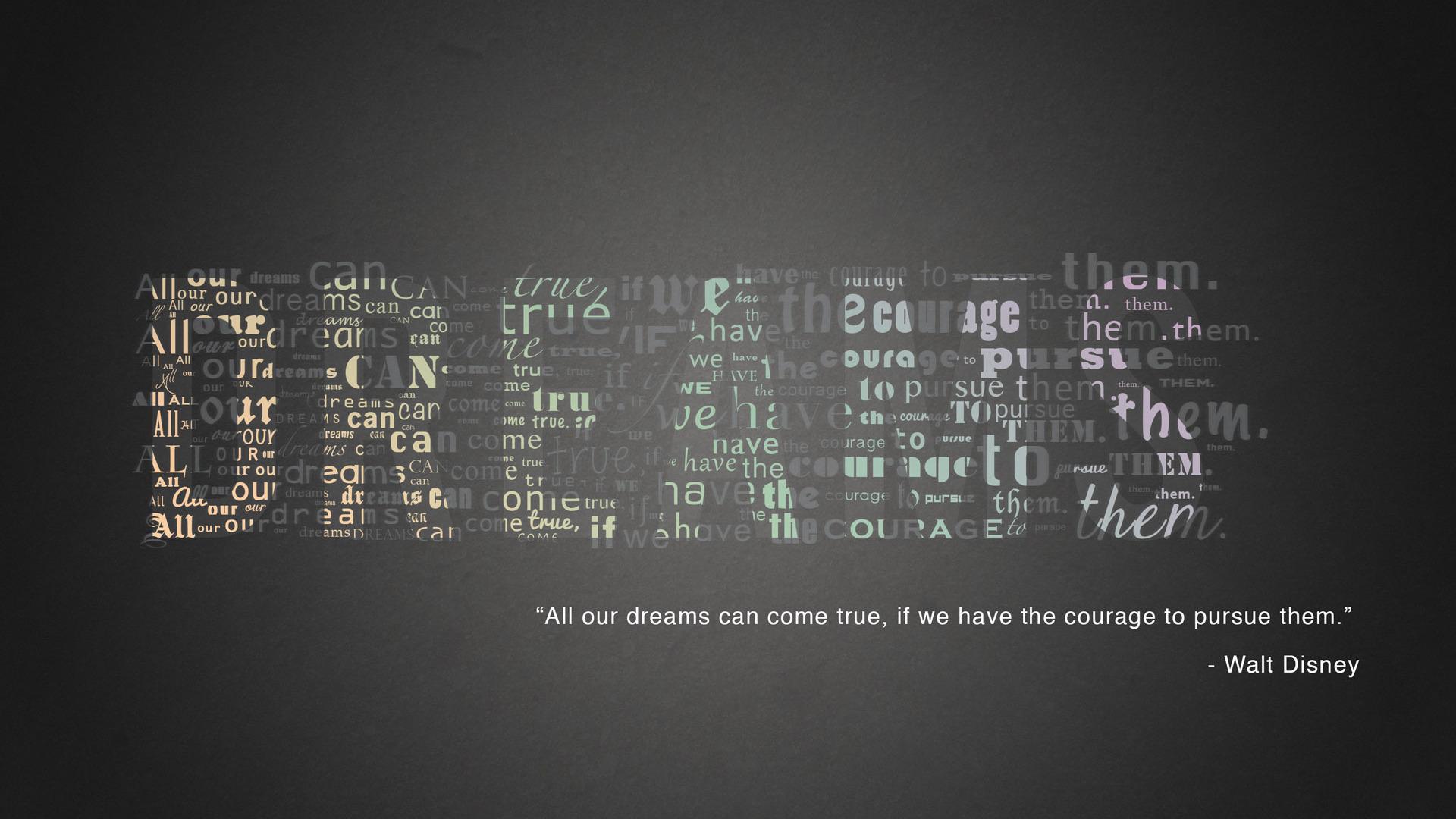 Walt Disney quote Wallpaper 9802 1920x1080