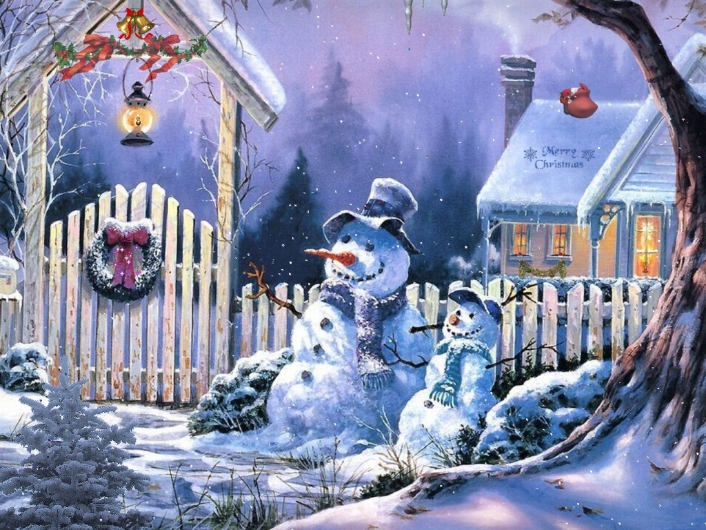 Country snowman wallpaper wallpapersafari for Fond ecran noel gratuit pour ordinateur
