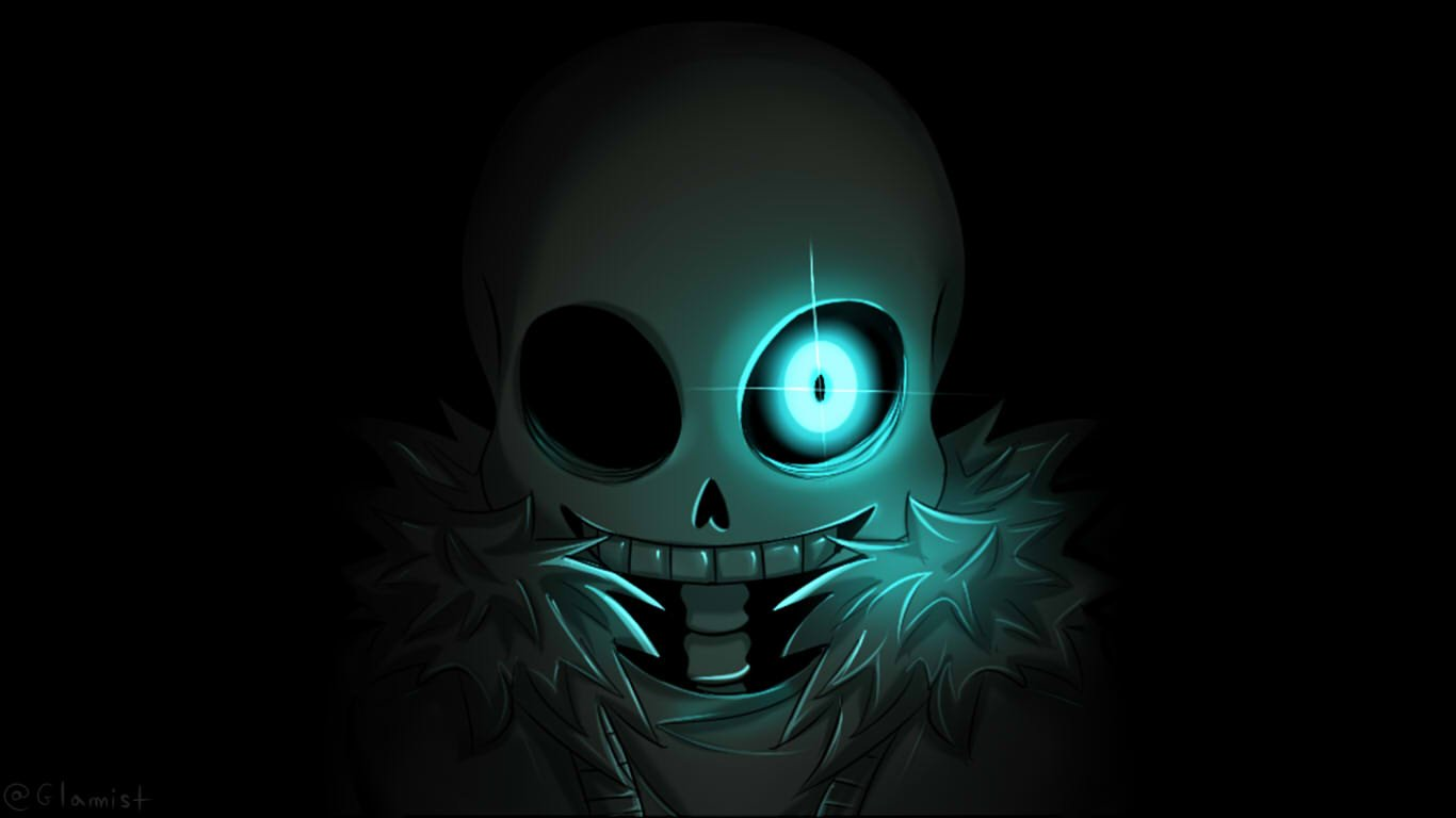 Undertale Sans   Wallpaper by Glamist 1366x768