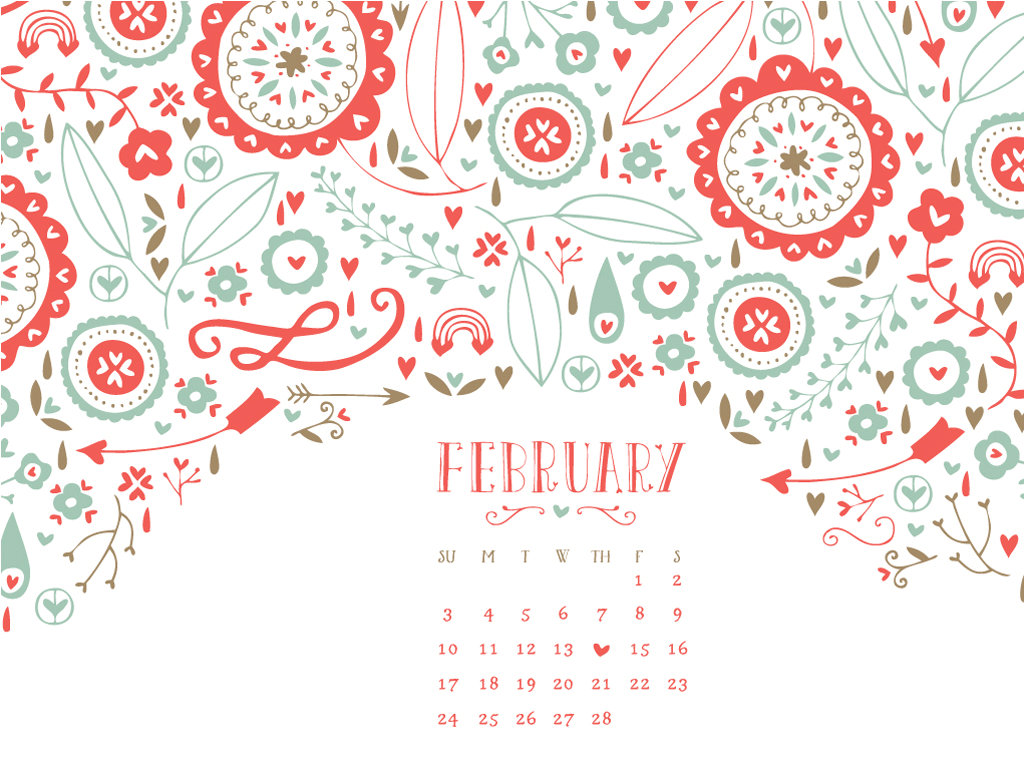love how simple this calendar is but how busy and fun the 1024x768
