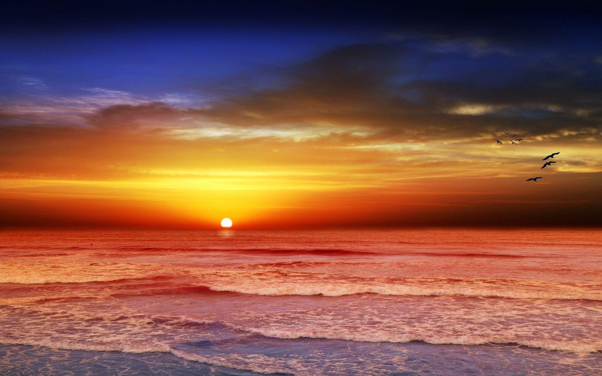 Sunset Beach Wallpapers 1920x1200
