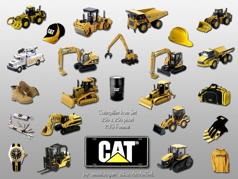 Caterpillar Dock Icons by maakdogan 800x600