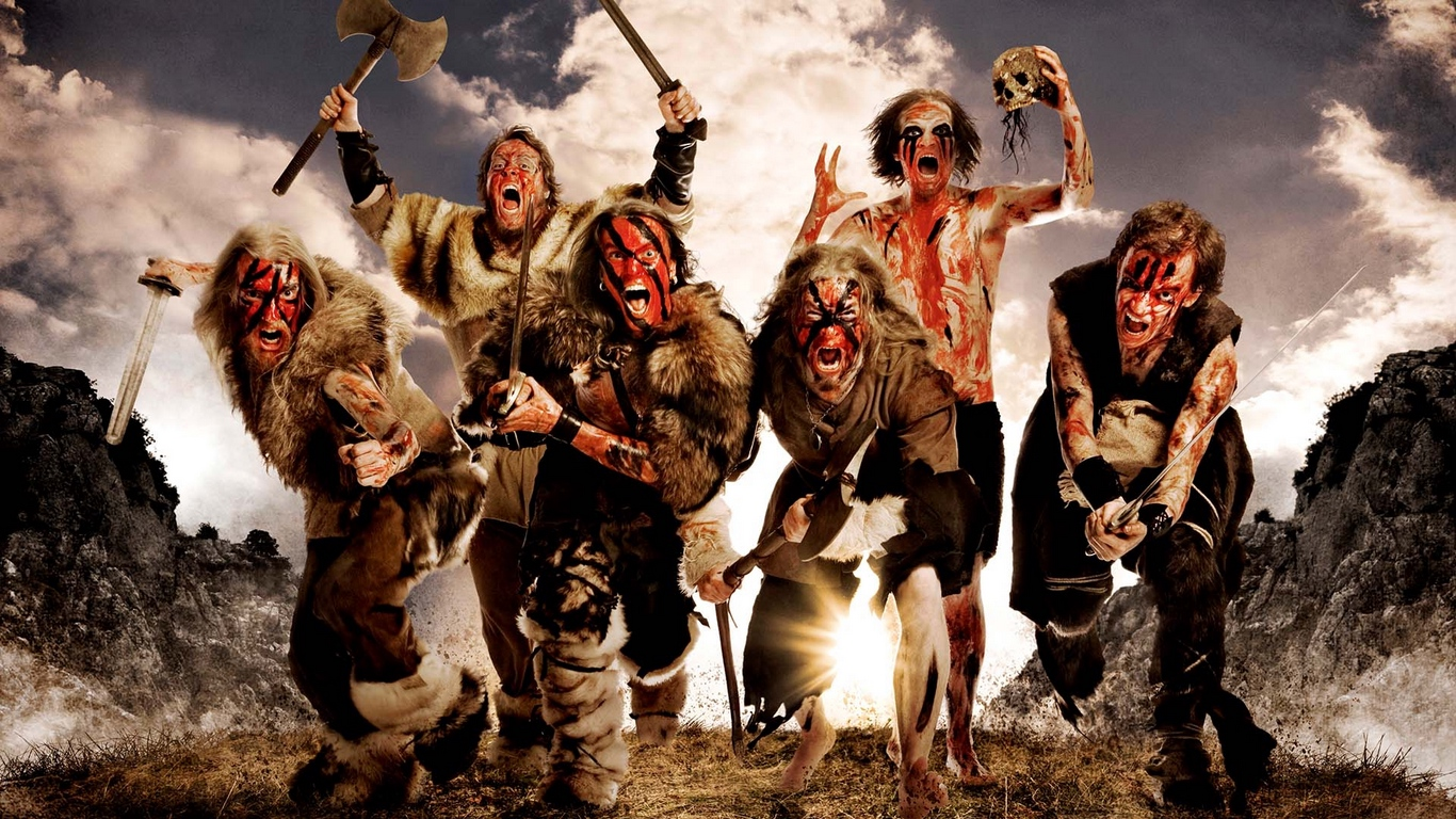 Download wallpaper 1366x768 turisas arm skull image scream 1366x768