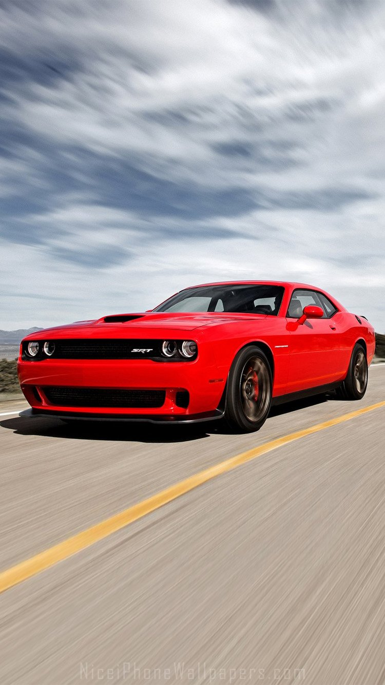 Dodge Challenger iPhone 6 Wallpaper Dodge Challenger SRT Hellcat 2015 750x1334