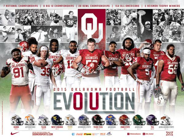 Photos Oklahoma Football Has A Double Sided Schedule Poster 600x451