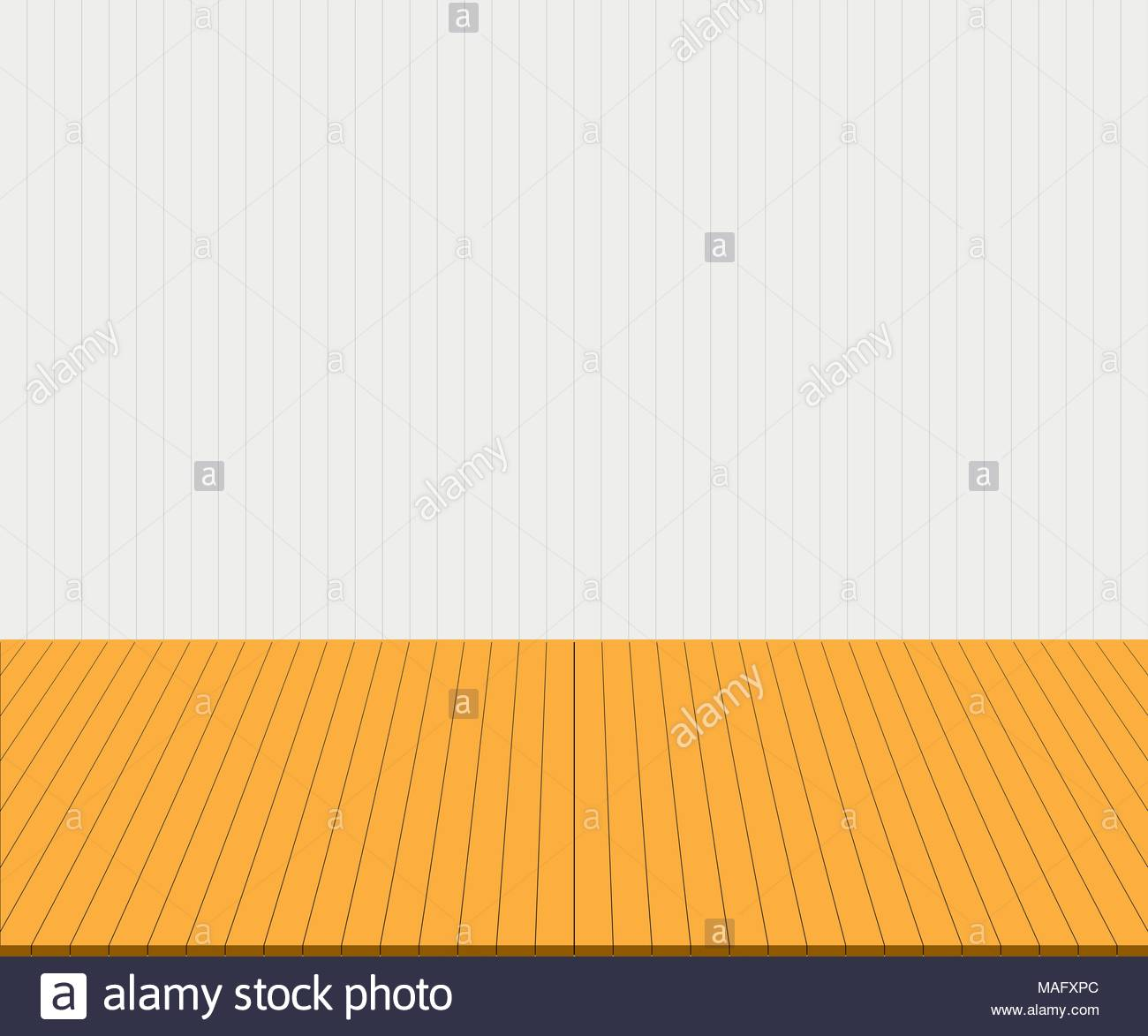Empty yellow tabletop display over white wall background Vector 1300x1173