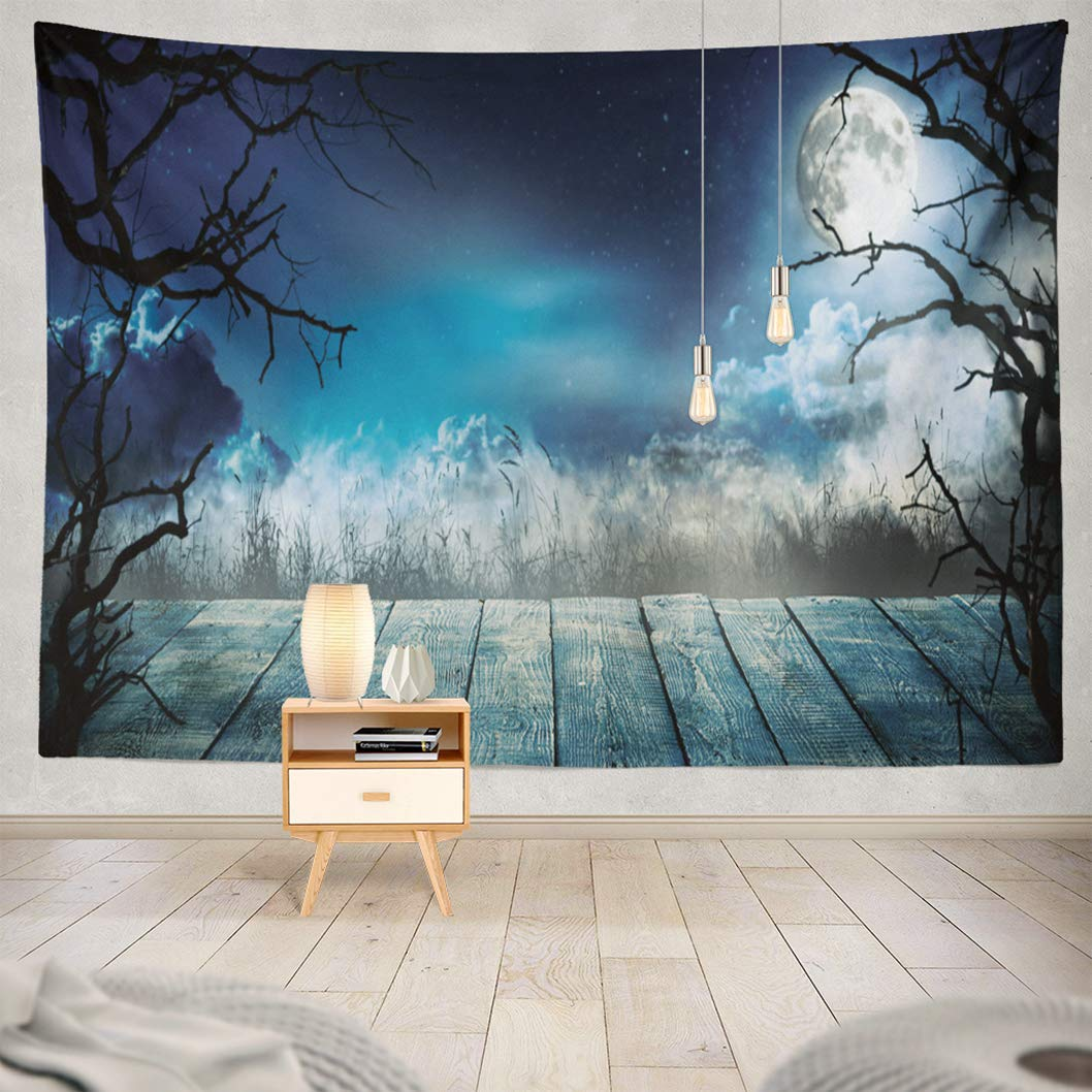 Amazoncom Kutita Tapestry Wall Hanging Spooky Horror with Wooden 1058x1058