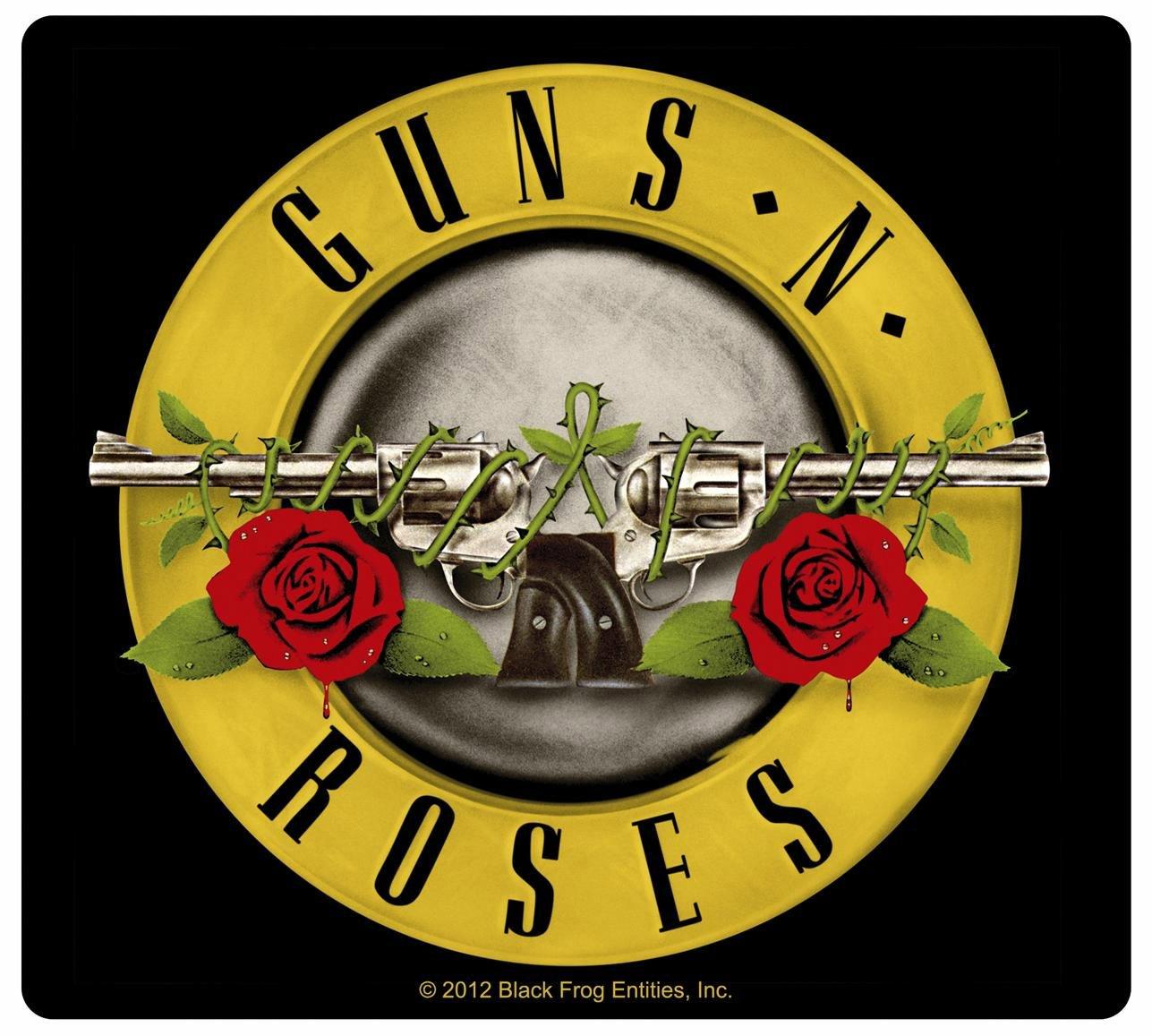 Fotos   Guns N Roses Black Logo On White Background 1287x1157