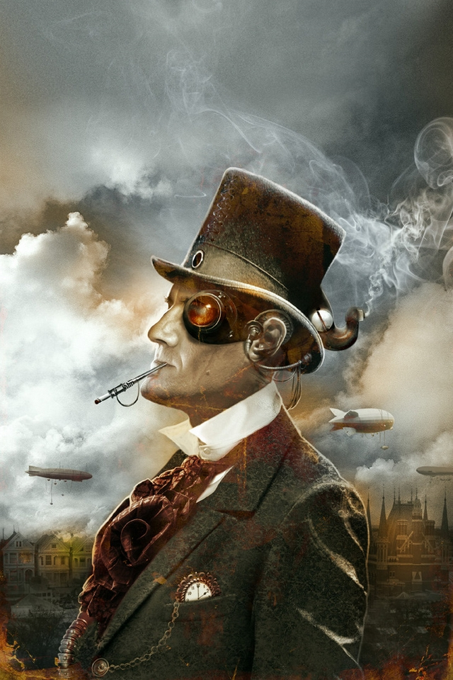 Steampunk Background Iphone Antologia steampunk iphone 640x960