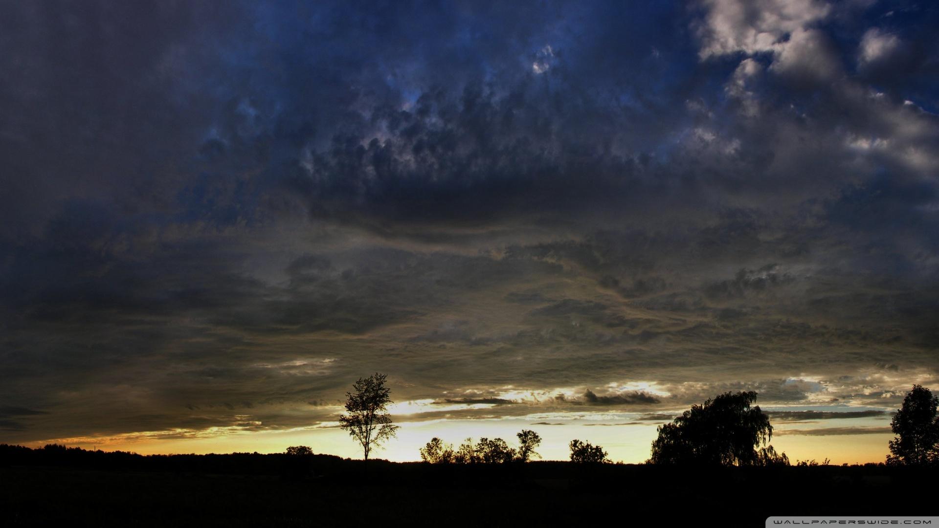 dark cloudy sky wallpaper hd