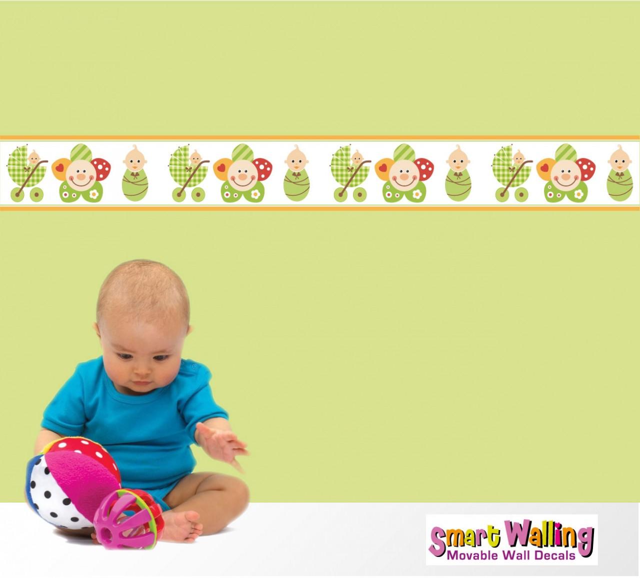 Baby Nursery Wallpaper Borders Baby Wall Wallpaper Borders ...