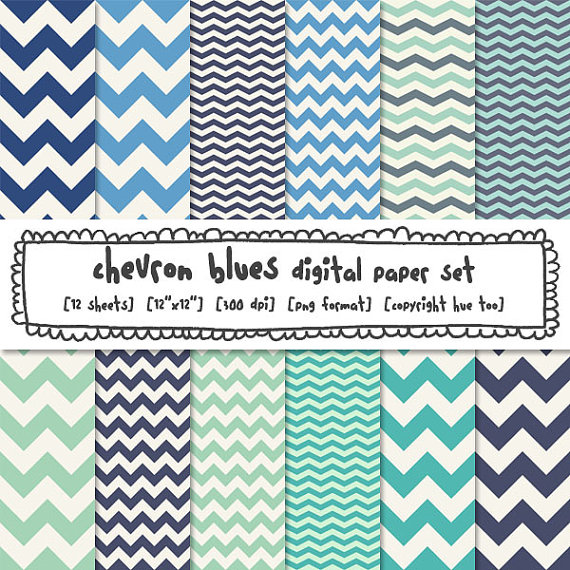 blue chevron digital paper zig zag chevron stripe photography 570x570