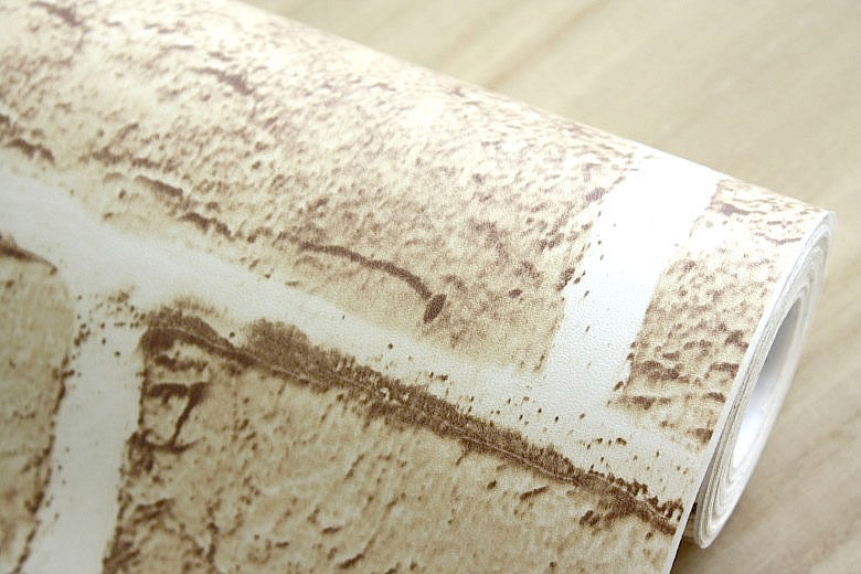 10m PVC Wallpaper Beige Brick Stone Prepasted Self adhesive Wallpaper 780x520