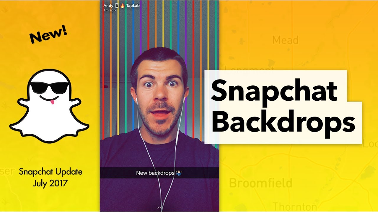 How to Use Snapchat Backdrops 1280x720