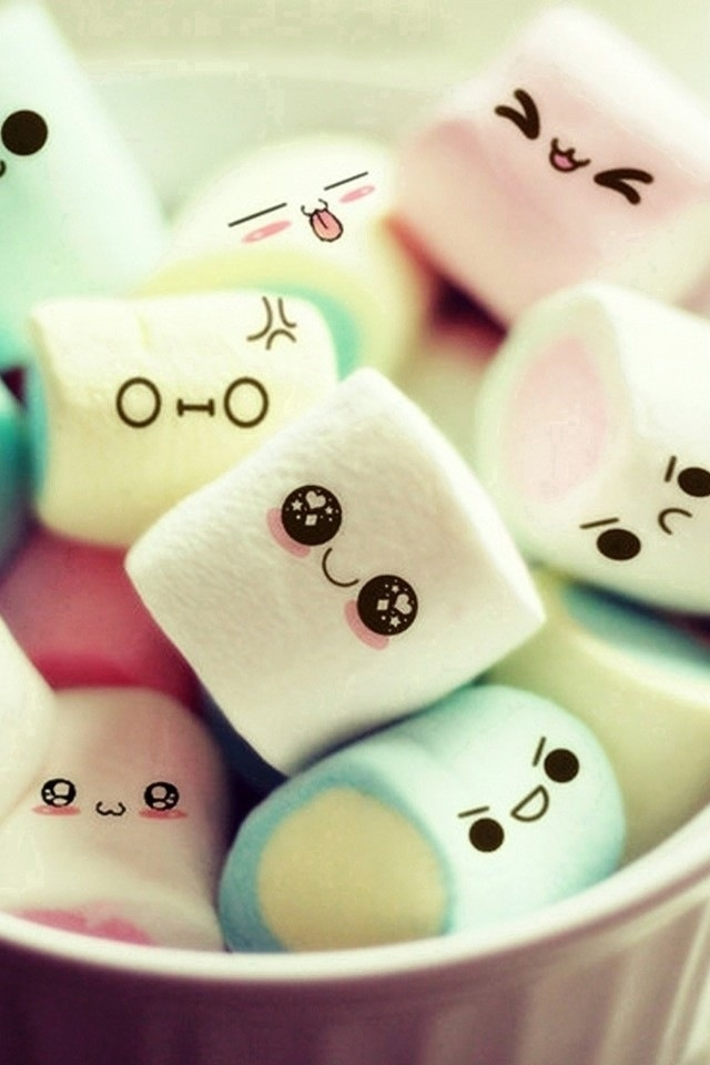 Marshmallow smiley iPhone wallpapers Background and Themes 640x960