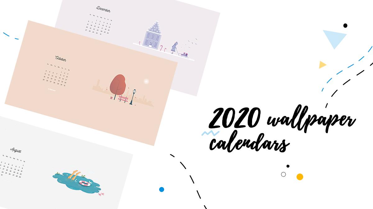 2020 wallpaper calendars January   December   Flipsnack Blog 1200x675