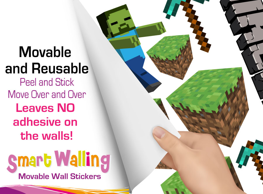 Minecraft Room Stickers for Pinterest 900x664