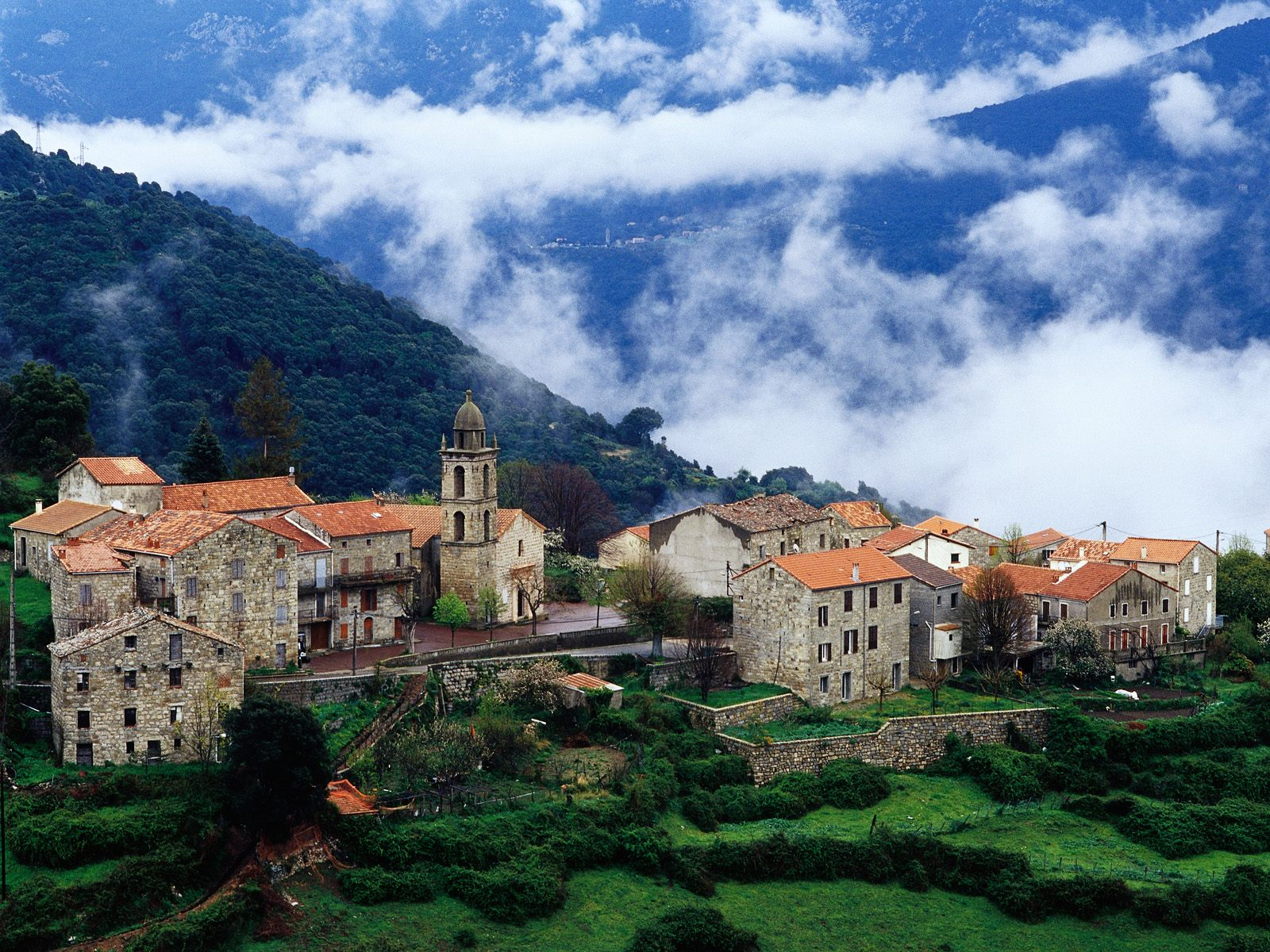 Village Corsica France Wallpapers HD Wallpapers 1600x1200