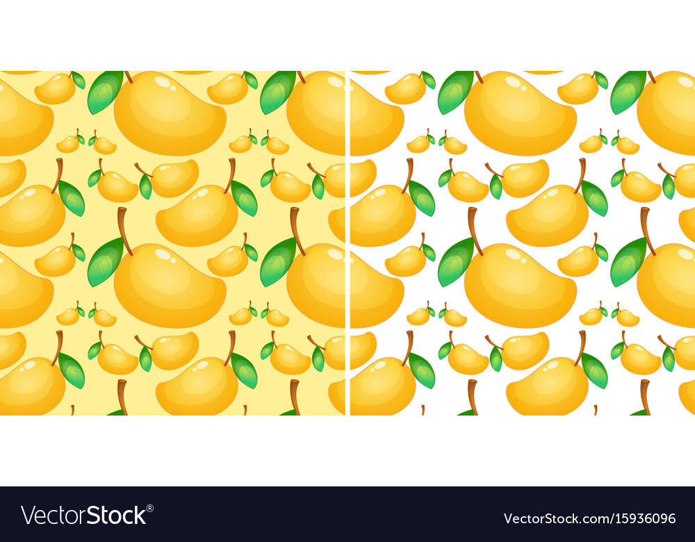 Seamless background with fresh mango Royalty Vector 1000x780