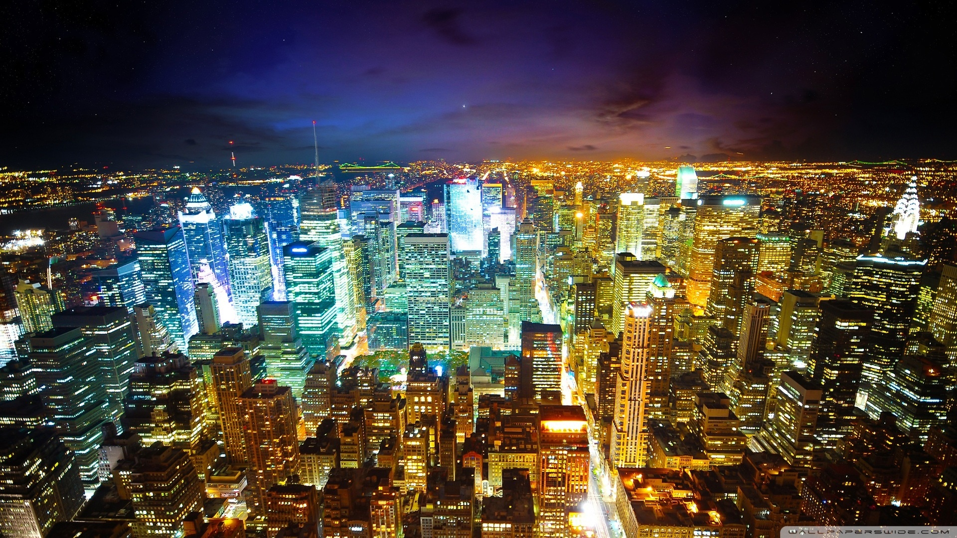 New York City At Night 2 Wallpaper 1920x1080 New York City At 1920x1080
