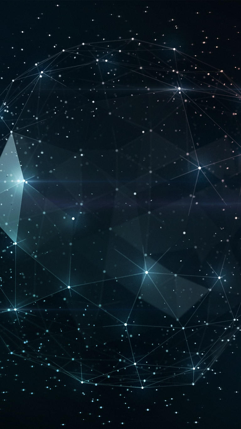Free Download 768x1366 Outer Space Geometry Surface Rt